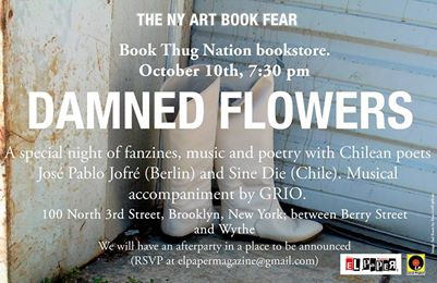 Damned Flowers: A Special Night of Poetry with Chilean Poets José Pablo Jofré and Sine Die