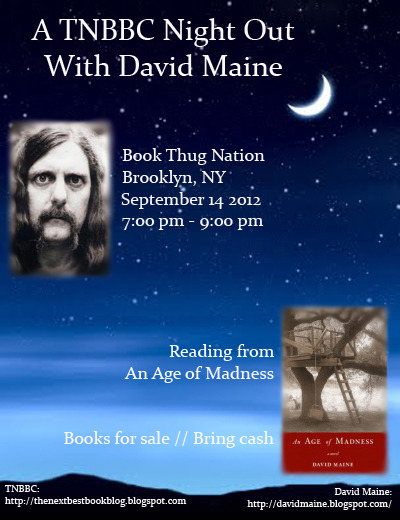 TNBBC Presents David Maine, September 14th, 7pm